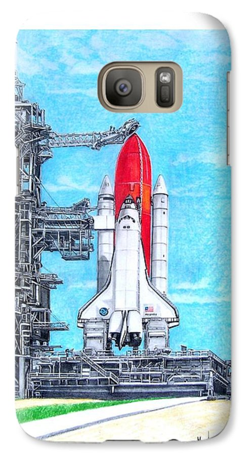 Drawing Galaxy S7 Case featuring the drawing Atlantis by Murphy Elliott