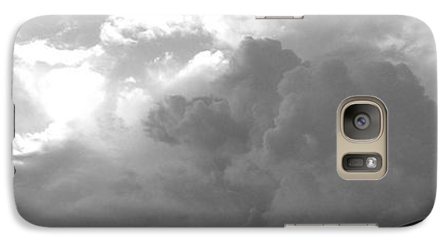 Black And White Galaxy S7 Case featuring the photograph Atmospheric Barcode 19 7 2008 16 Version Bw by Donald Burroughs