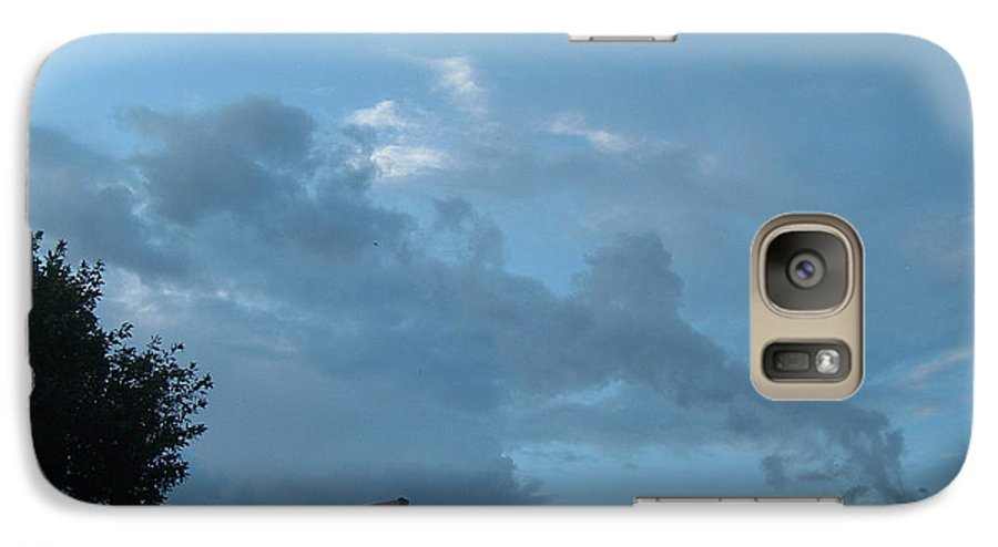 Sky Galaxy S7 Case featuring the photograph Atmospheric Barcode 19 7 2008 18 Or Titan by Donald Burroughs