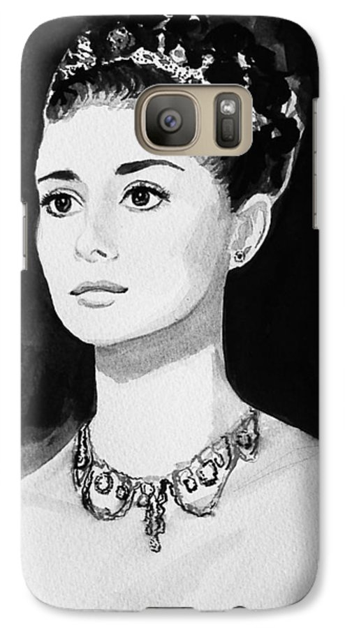 Audrey Hepburn Galaxy S7 Case featuring the painting Audrey by Laura Rispoli