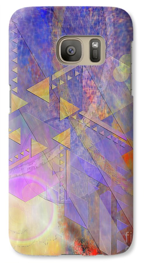 Aurora Aperture Galaxy S7 Case featuring the digital art Aurora Aperture by John Beck