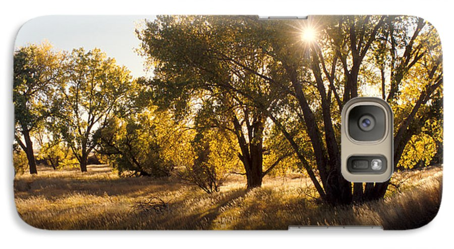 Fall Galaxy S7 Case featuring the photograph Autum Sunburst by Jerry McElroy