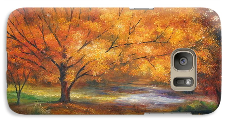 Fall Galaxy S7 Case featuring the painting Autumn by Ann Cockerill