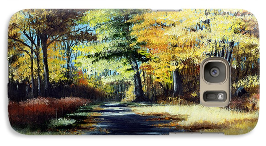 Landscape Galaxy S7 Case featuring the painting Autumn Colors by Paul Walsh