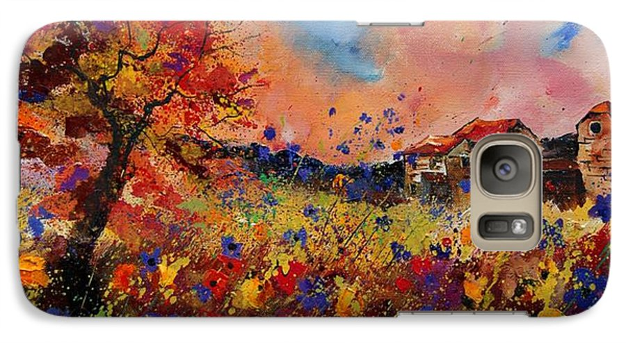 Poppies Galaxy S7 Case featuring the painting Autumn Colors by Pol Ledent