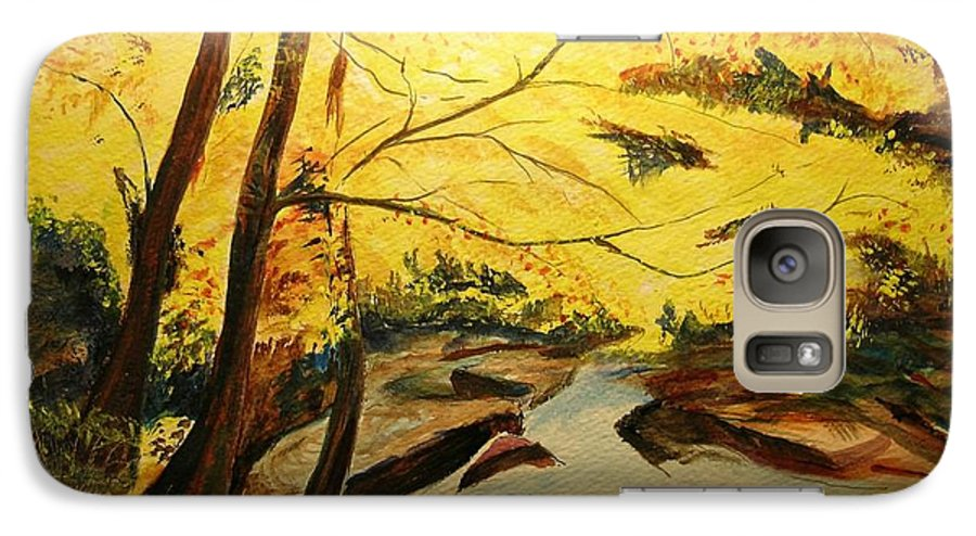Trees In Autumn Galaxy S7 Case featuring the painting Autumn Colours by Lizzy Forrester