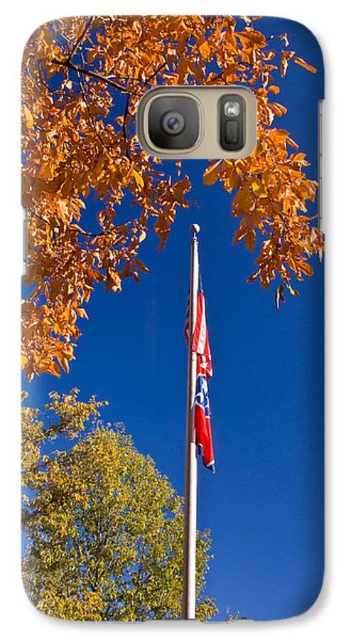 Flag Galaxy S7 Case featuring the photograph Autumn Flag by Douglas Barnett