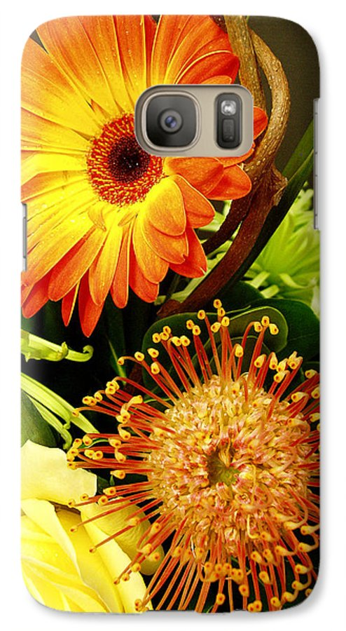 Autumn Galaxy S7 Case featuring the photograph Autumn Flower Arrangement by Nancy Mueller