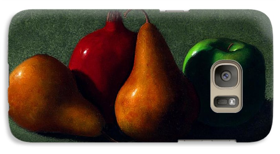Still Life Galaxy S7 Case featuring the painting Autumn Fruit by Frank Wilson