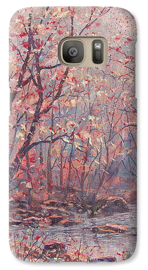 Landscape Galaxy S7 Case featuring the painting Autumn Harmony. by Leonard Holland