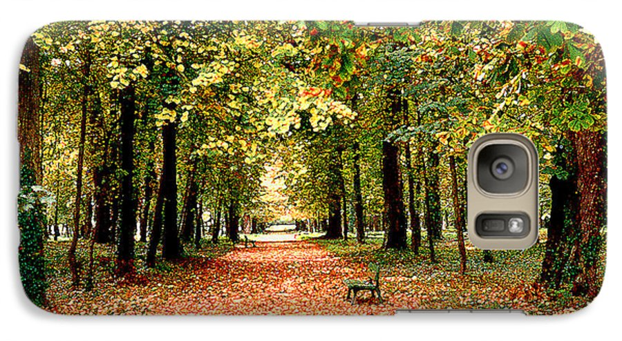 Autumn Galaxy S7 Case featuring the photograph Autumn In The Park by Nancy Mueller
