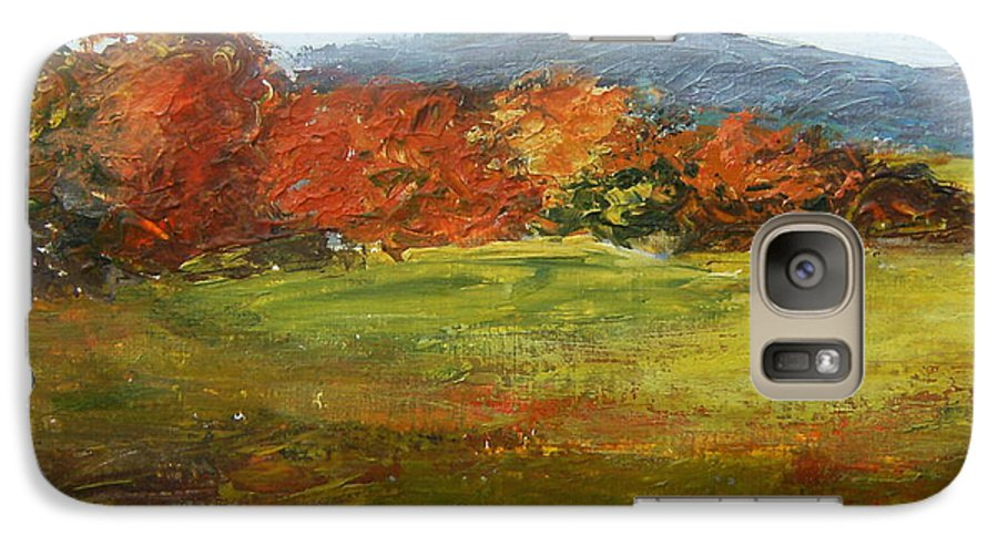 Landscape Galaxy S7 Case featuring the painting Autumn Is Here by Tami Booher