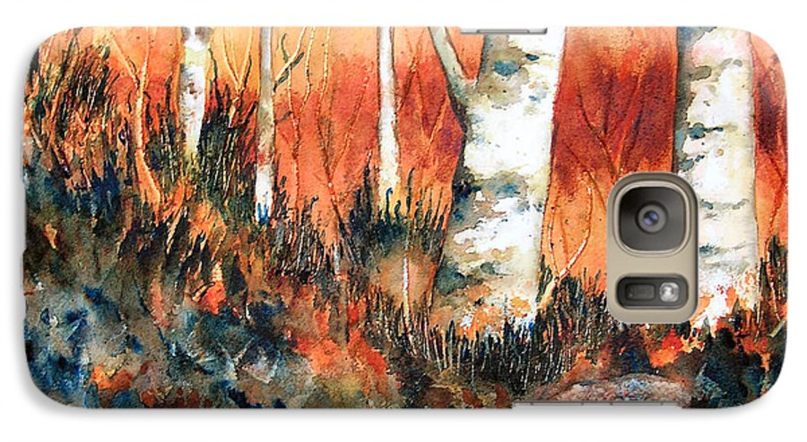 Landscape Galaxy S7 Case featuring the painting Autumn by Karen Stark