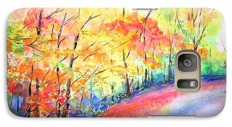 Autumn Galaxy S7 Case featuring the painting Autumn Lane Iv by Lizzy Forrester