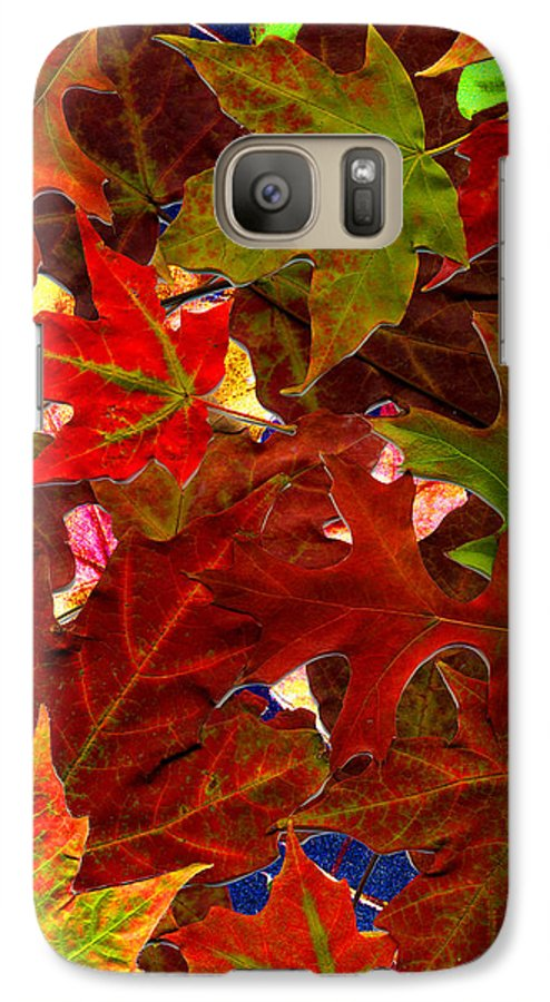 Collage Galaxy S7 Case featuring the photograph Autumn Leaves by Nancy Mueller
