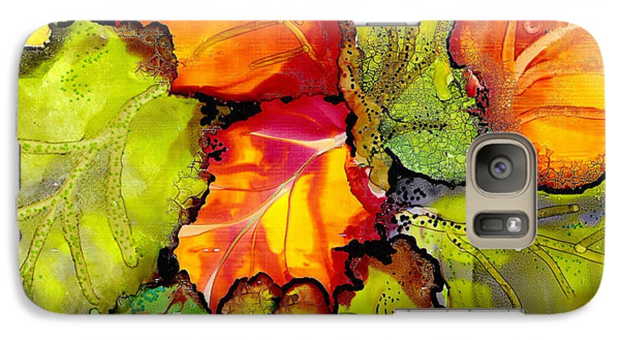 Leaves Galaxy S7 Case featuring the painting Autumn Leaves by Susan Kubes