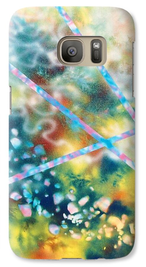 Abstract Galaxy S7 Case featuring the painting Autumn by Micah Guenther