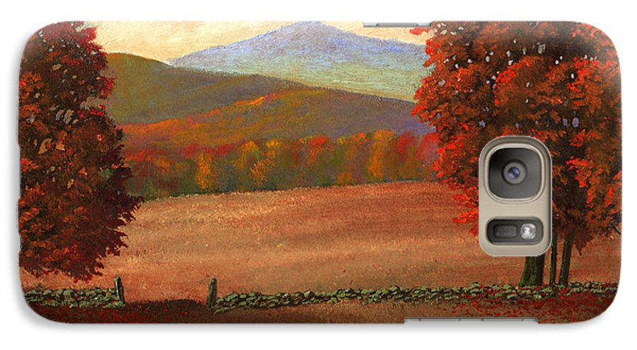 Autumn Galaxy S7 Case featuring the painting Autumn Pastures by Frank Wilson
