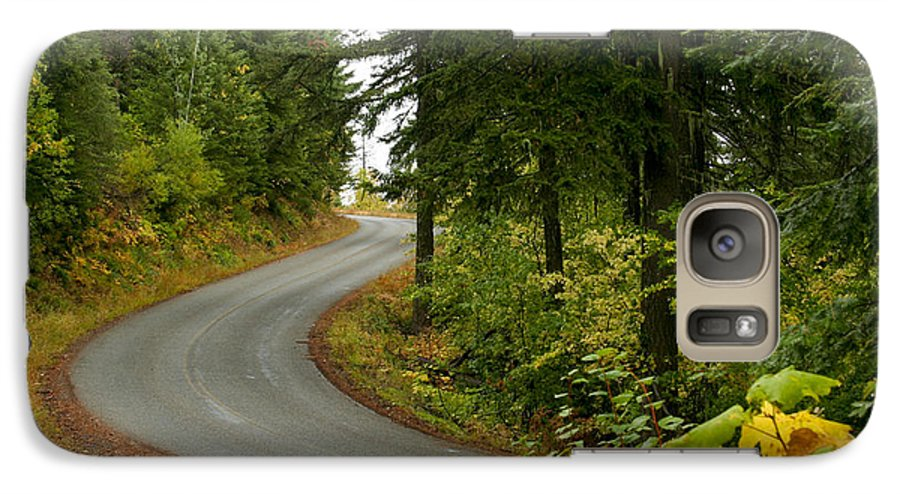 Road Galaxy S7 Case featuring the photograph Autumn Road by Idaho Scenic Images Linda Lantzy