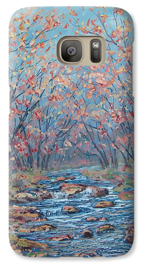 Landscape Galaxy S7 Case featuring the painting Autumn Serenity by Leonard Holland