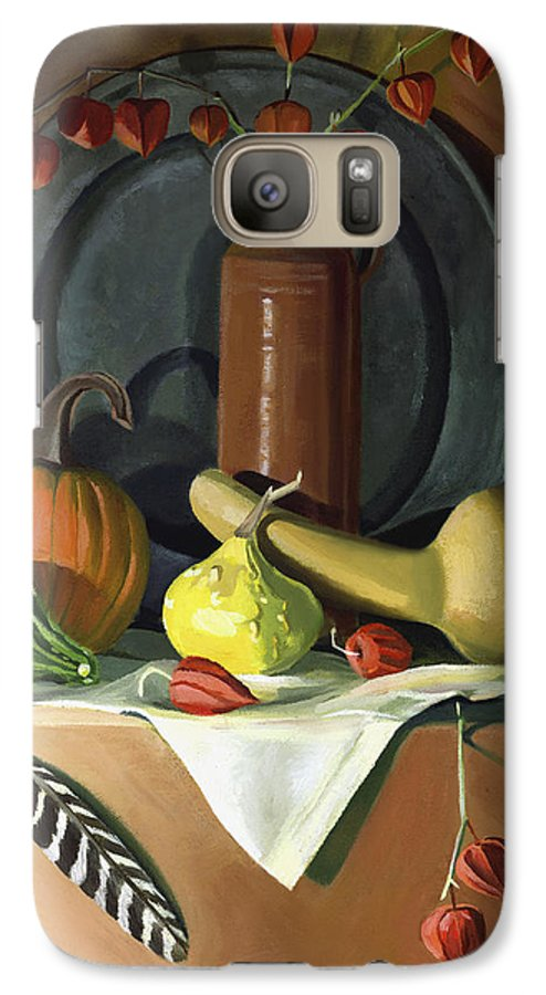 Still Life Galaxy S7 Case featuring the painting Autumn Still Life by Nancy Griswold