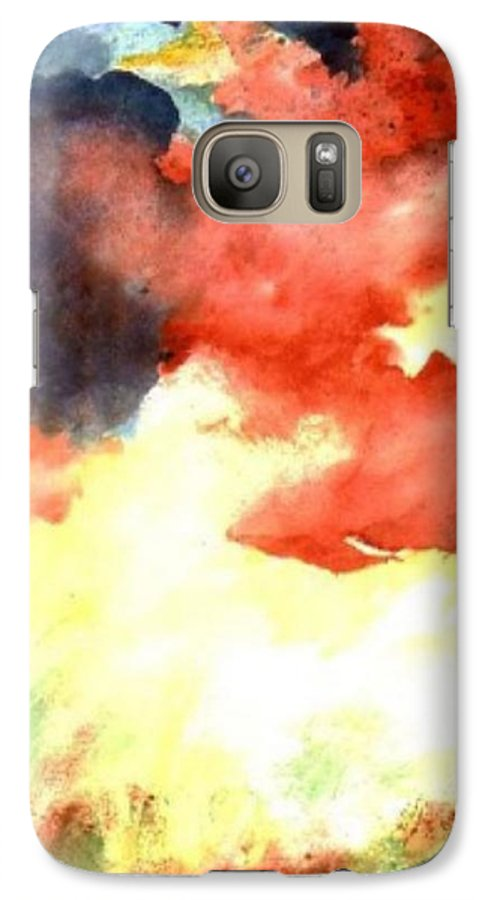 Autumn Galaxy S7 Case featuring the painting Autumn Storm by Andrew Gillette