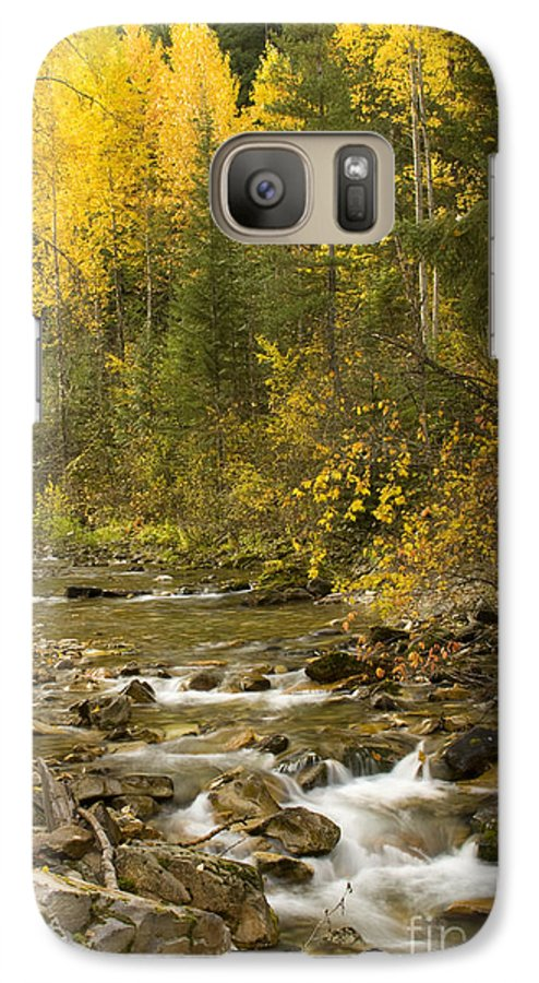 Idaho Galaxy S7 Case featuring the photograph Autumn Stream by Idaho Scenic Images Linda Lantzy