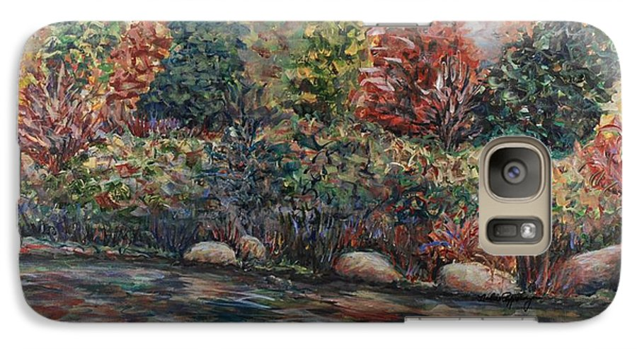 Autumn Galaxy S7 Case featuring the painting Autumn Stream by Nadine Rippelmeyer
