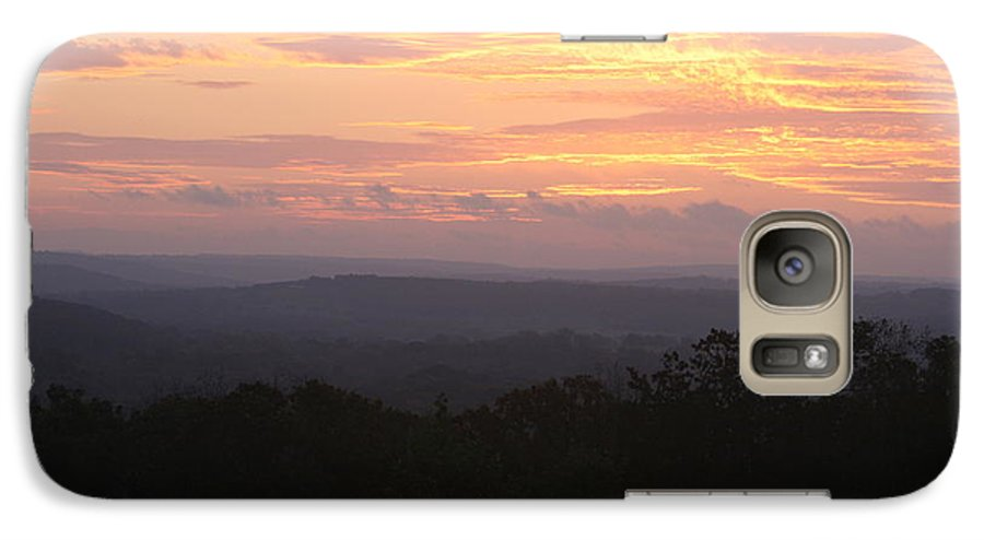 Sunrise Galaxy S7 Case featuring the photograph Autumn Sunrise Over The Ozarks by Nadine Rippelmeyer