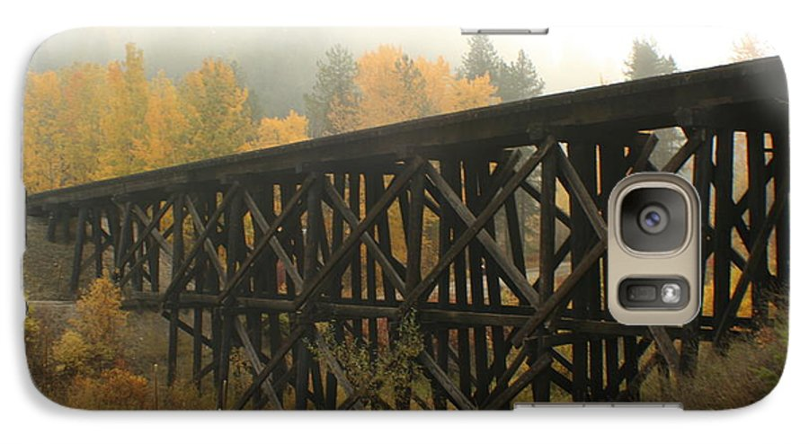 Trestle Galaxy S7 Case featuring the photograph Autumn Trestle by Idaho Scenic Images Linda Lantzy