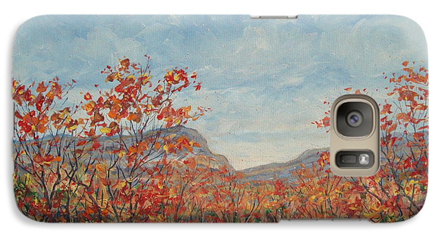 Paintings Galaxy S7 Case featuring the painting Autumn View. by Leonard Holland