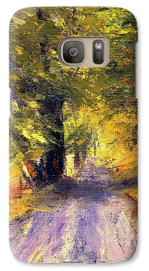 Autumn Galaxy S7 Case featuring the painting Autumn Walk by Gail Kirtz