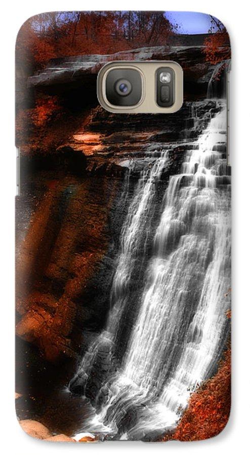 Autumn Galaxy S7 Case featuring the photograph Autumn Waterfall 3 by Kenneth Krolikowski