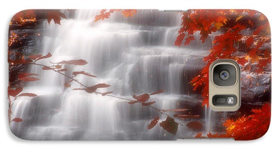 Autumn Galaxy S7 Case featuring the photograph Autumn Waterfall I by Kenneth Krolikowski