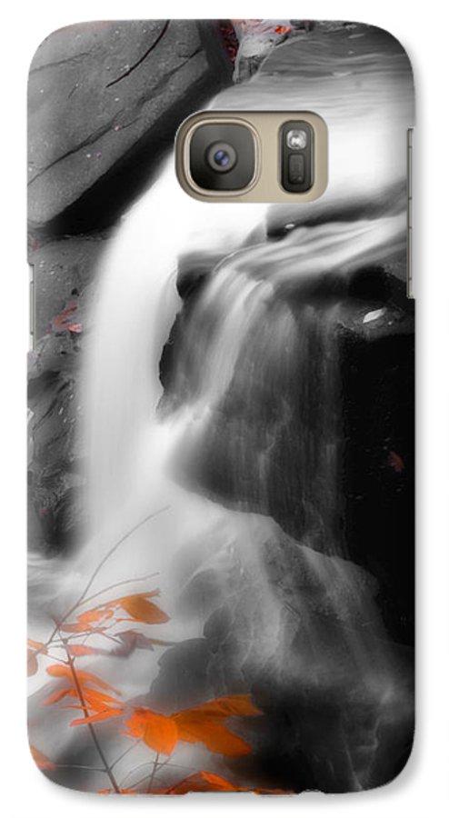 Autumn Galaxy S7 Case featuring the photograph Autumn Waterfall Iv by Kenneth Krolikowski