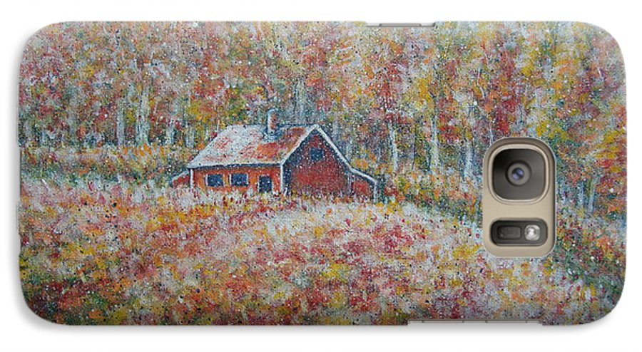 Landscape Galaxy S7 Case featuring the painting Autumn Whisper. by Natalie Holland
