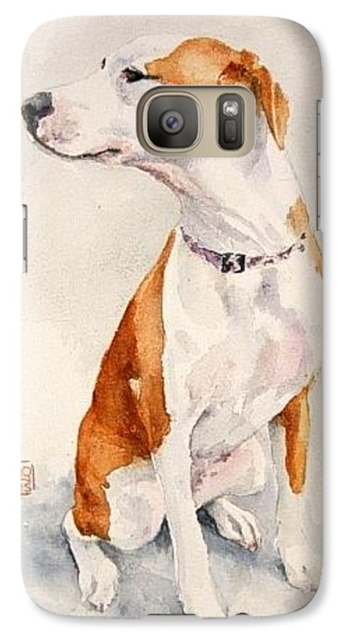 Dog Galaxy S7 Case featuring the painting Aviator by Debra Jones