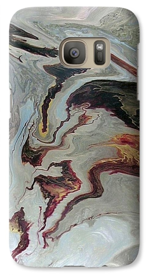 Abstract Galaxy S7 Case featuring the painting Awakening by Patrick Mock