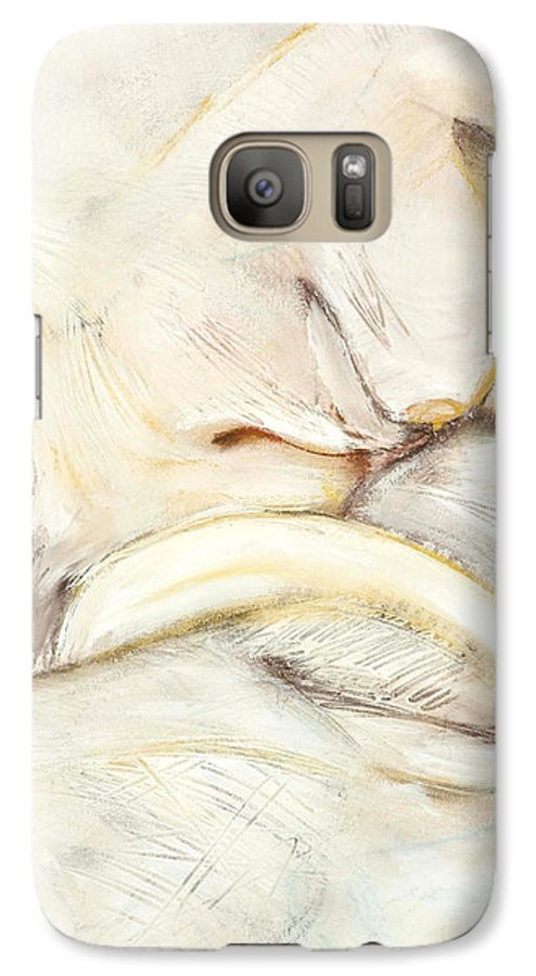 Female Galaxy S7 Case featuring the drawing Award Winning Abstract Nude by Kerryn Madsen-Pietsch