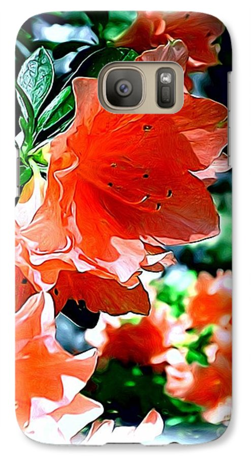 Fine Art Galaxy S7 Case featuring the painting Azaleas In The Spring by Patricia Griffin Brett