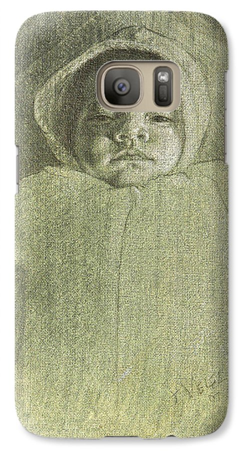 Galaxy S7 Case featuring the painting Baby Self Portrait by Joe Velez