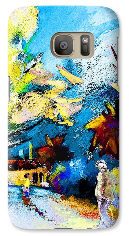 Pastel Painting Galaxy S7 Case featuring the painting Back Home by Miki De Goodaboom