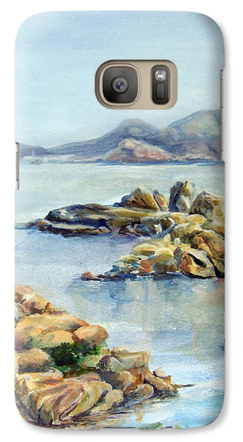 Landscape Galaxy S7 Case featuring the painting Baie by Muriel Dolemieux