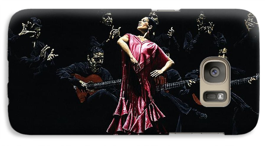 Flamenco Galaxy S7 Case featuring the painting Bailarina Orgullosa Del Flamenco by Richard Young