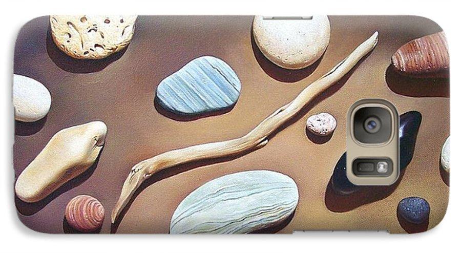 Still Life Galaxy S7 Case featuring the painting Balance by Elena Kolotusha