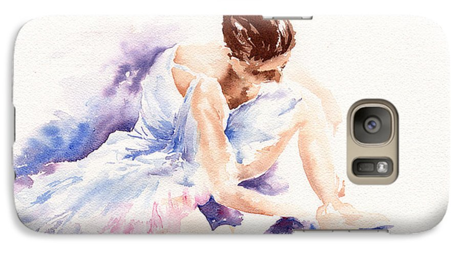 Ballerina Galaxy S7 Case featuring the painting Ballerina by Stephie Butler