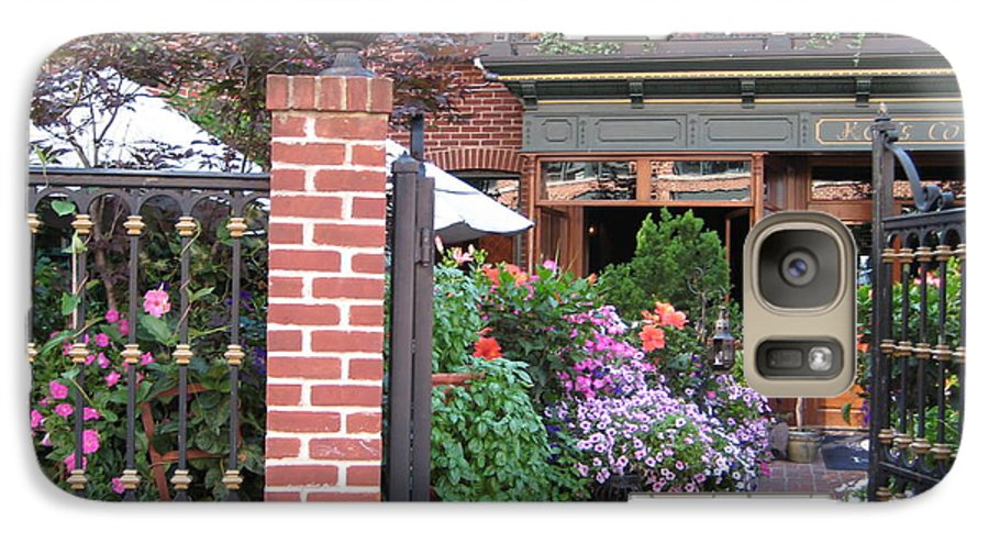 Courtyard Galaxy S7 Case featuring the photograph Baltimore Cafe     By Jean Carton by Jerrold Carton