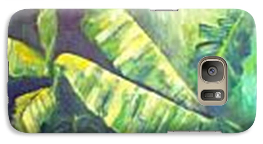 Banana Leaf Galaxy S7 Case featuring the painting Banan Leaf by Carol P Kingsley