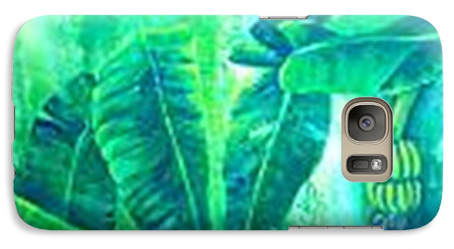 Galaxy S7 Case featuring the painting Banan Leaves 5 by Carol P Kingsley