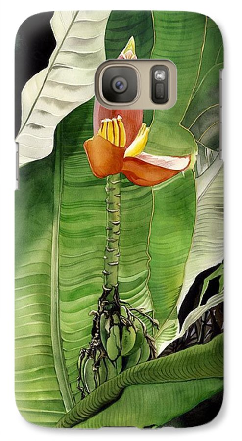 Flower Galaxy S7 Case featuring the painting Banana Blossom by Alfred Ng